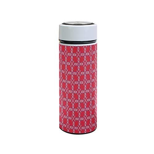 XiangHeFu Houdt koud of warm 12 oz koffie waterfles thermoskan sportbeker grappige textuur vlag lekvrij