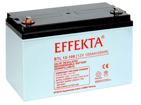 Effekta AGM Akku Batterie Typ BTL12-100 12V 100Ah Innengewinde M8