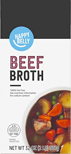 Amazon brand - Happy Belly Beef Broth, 32 Ounce