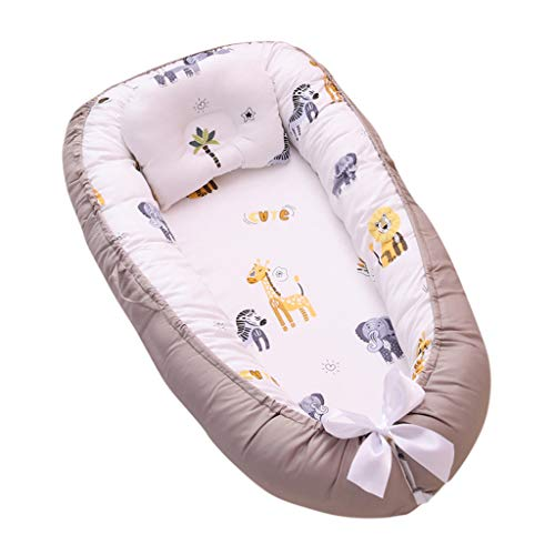 Great Features Of COPPEN Newborn Infant Baby Portable Removable and Washable Crib Bed Cartoon Pillow...