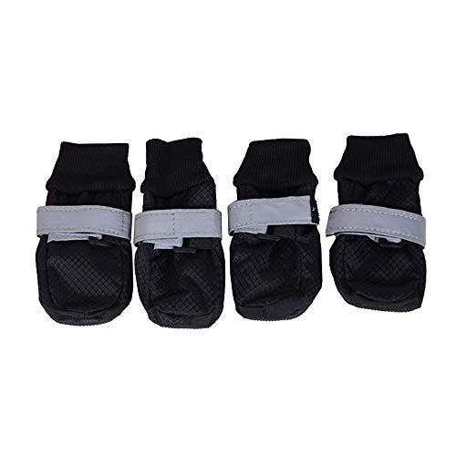 HNZZ TMRTCGY beschermen hond voeten huisdier schoenen Reflecterende bandjes In grote honden Comfortabele wandelschoenen