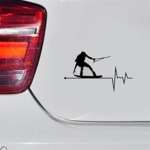 14.5CM * 8.6CM Wakeboard en mi corazón—Decoraciones para el automóvil...