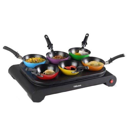 Tristar Wokset met gekleurde wokpannen