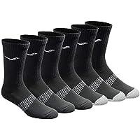 6-Pack Saucony Men's Multi-pack Mesh Ventilating Comfort Fit Performance Crew Socks