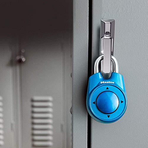 Colores surtidos portátiles Gimnasio Escuela Club de salud Combinación Contraseña Candado direccional Candado Bloqueo master lock-Sky_Blue