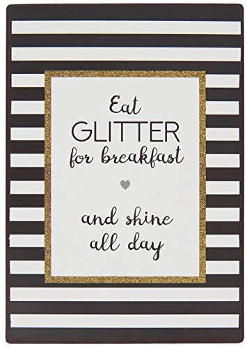 IB Laursen Metall Schild 'Eat Glitter for Breakfast and Shine All Day' Liebe