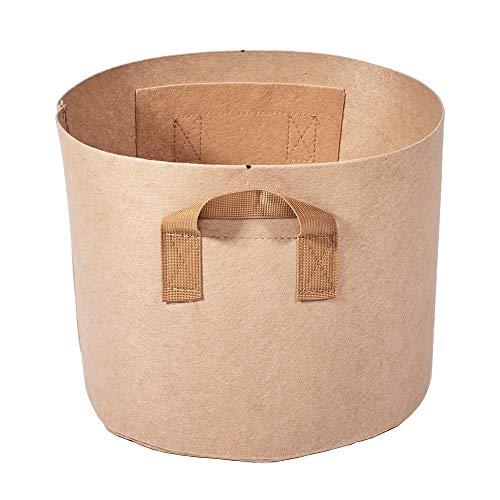 WWVAVA 1 – 300 bolsas grandes para plantar flores no tejidas con asa de correa marrón para plantar patatas vegetales, herramientas de jardinería para el hogar, 96 x 45 cm.