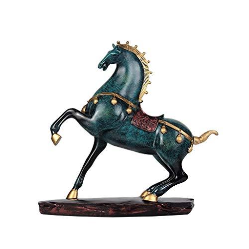 Decoración de escritorio Modernas Estatua decoración del hogar artesanía, Salón gabinete del vino, las decoraciones, regalos del caballo esculturas hotel de la oficina decoración del hogar adornos de