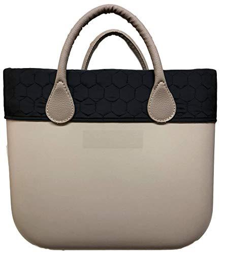Trim Bordüre TaschenUmrandung- für O Bag Classic (Schwarz Gesteppt)