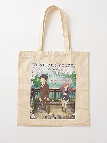 Générique A Silent Manga Voice Wibu Katachi No Otaku Anime School Love Japan Koe   Einkaufstaschen aus Leinen mit Griffen Einkaufstaschen aus nachhaltiger Baumwolle