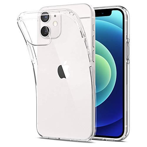 Eiselen Crystal Clear Case Kompatibel mit iPhone 12 Mini Hülle, Fallschutz, Stoßfest Handyhülle, Weiche Anti-Gelb Anti-Kratzer Transparent Dünn Silikon Schutzhülle für iPhone 12 Mini