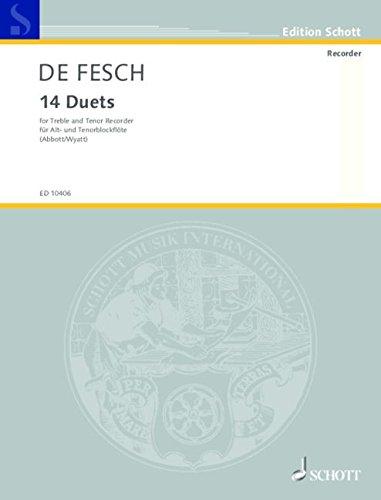 Schott Music Distribution 14 Duets: Alt- und Tenor-Blockflöte Bild