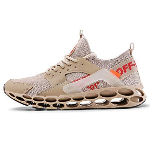 Sooiy Deporte de Invierno Cuchilla Zapatos para Correr otoño bajo-Top de Las Zapatillas de Deporte con Cordones Zapatos de Entrenamiento Calzado Casual 2019,39