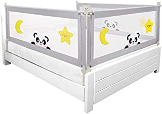 100CM Height Adjustable Folding BedRail Kids Baby Safety Bed Rail 180cmx100cm