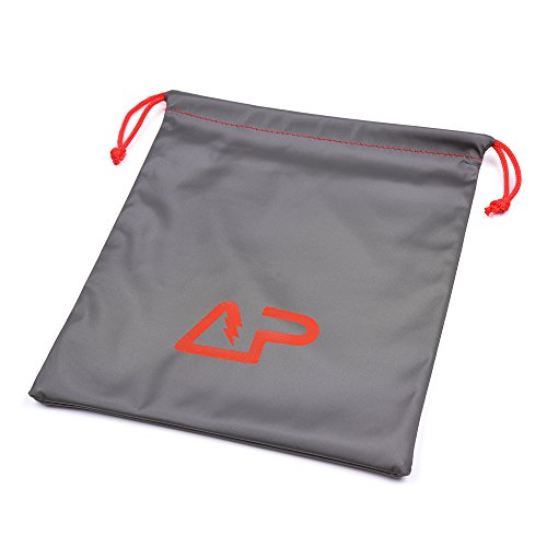 """Universal Waterproof Headphone Protection Pouch Bag for Varias Headsets 11"""" x 9.25"""" inch Metallic Gray Color"""