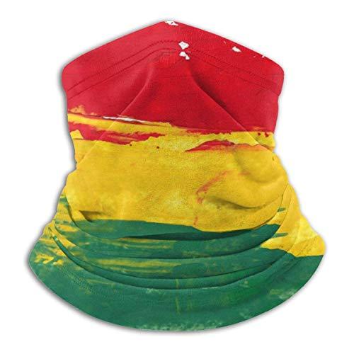 fenrris65 Colorido Marley Reggae colores verde Bob Rasta bandera de Jamaica máscara facial bandanas bufanda calentador de cuello pasamontañas diadema para polvo deportes al aire libre sol