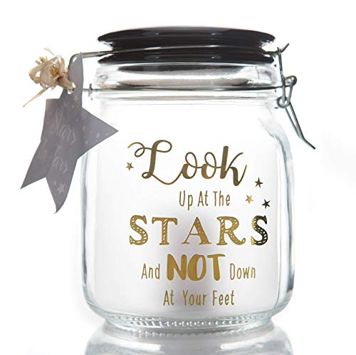 Boxer Gifts - Bocal avec Inscription dorée « Look up at The Stars »