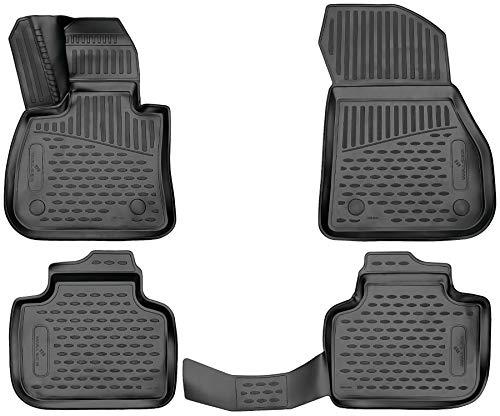 Walser XTR Gummifußmatten kompatibel mit BMW X1 (F48) Baujahr 11/2014 - Heute, passgenaue Auto Gummimatten, Autofußmatten Gummi
