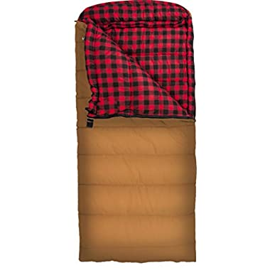 Teton Sports Deer Hunter 0F Sleeping Bag; 0 Degree Sleeping Bag Great for Cold Weather Camping and Hunting; Brown, Left Zip