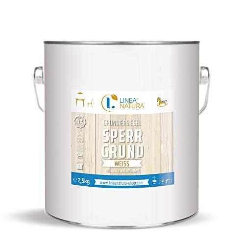 LINEA NATURA® Grundiersiegel Sperrgrund - weiß   Isoliergrund   Holzlack   zum Isolieren von inhaltsstoffreichen Hölzern 2,5kg