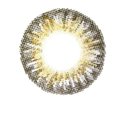 Matlens - Pro Trend Farbige Kontaktlinsen mit Stärke TriColor grau Big Eyes PDX-371 2 Linsen 1 Kontaktlinsenbehälter 1 Pflegemittel 50ml