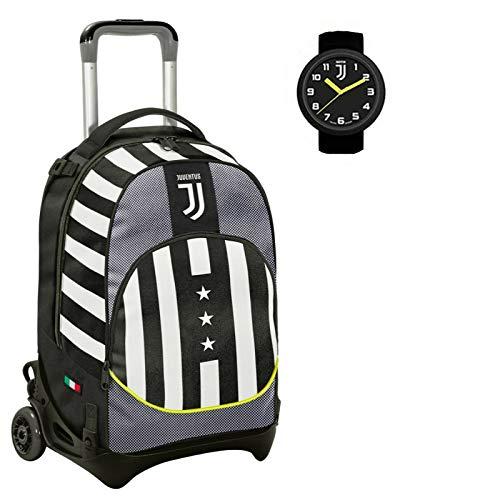 Juventus Trolley Scuola Seven Jack Winner Forever Sgancibile con orologio ufficiale in Omaggio