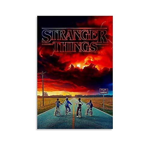 WODETA Poster artistico Stranger Things Poster decorativo su tela da parete per soggiorno, camera da letto, 30 x 45 cm