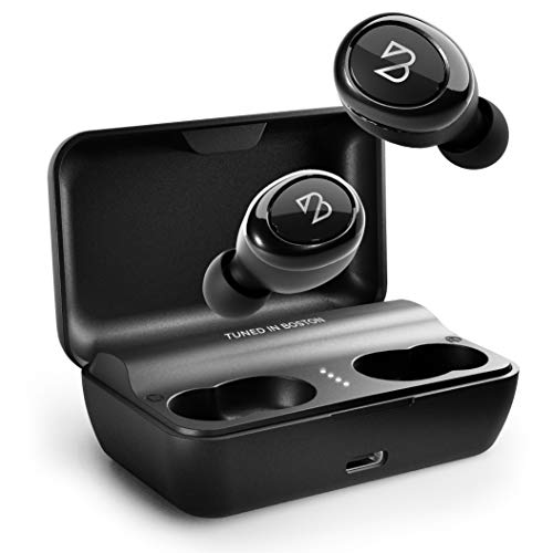 Duet 50 Pro - Wireless Bluetooth Earbuds. 130 Hour Long Battery Life, [Featured in Forbes] Phone Charger Mini Power Bank Case, Sweatproof TWS Headphones, Sound for Running