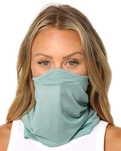 SAAKA Sunguard Neck Gaiter. Face & Skin Protection. Breathable, Lightweight, Fully Adjustable (Seafoam)