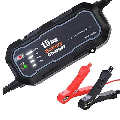 1.5-Amp completamente automática inteligente cargador, batería de carga de la batería, unidades responsables asi Trickle cargador y la batería desulfator con compensación de temperatura