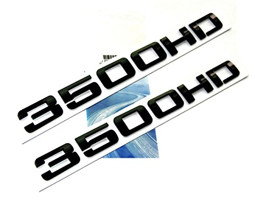 Yoaoo 2x OEM Genuine Black 3500Hd 3500 Hd Nameplates Emblems Badges Alloy for Gm Silverado Sierra Glossy 2 Pieces