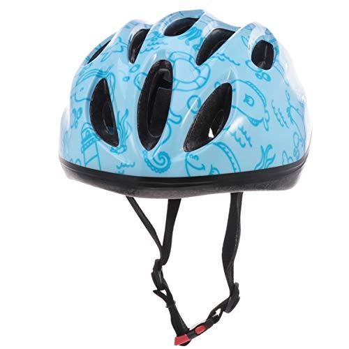 CLISPEED Kinder Fahrradhelm Fahrrad Fahrradhelm Fahrrad Kopfbedeckung Sichere Kappe Verstellbarer Skater Roller Radfahren für Kleinkinder Und Jugendliche Kopfschutz Hellblau