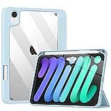 TiMOVO Funda Delgada Compatible con Nuevo iPad Mini 6ª Generación, iPad Mini 6 (8.3'',2021), Estuche Protector Plegable con Soporte para Ipencil, Admitir Auto Sueño/Estela Touch ID, Azul Claro