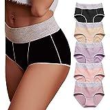 OPIBOO Women's Cotton Underwear,Soft Underwear Women Briefs,Ladies Comfort Breathable Underpants Panties