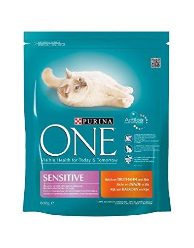 ONE Sensitive reich an Truthahn 800g Katzenfutter von Purina, 7er Pack (7 x 800 g)