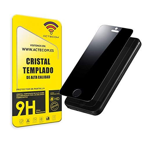 actecom Protector Pantalla Cristal Templado Negro PRIVACIDAD para iPhone 5 / 5S / iPhone SE