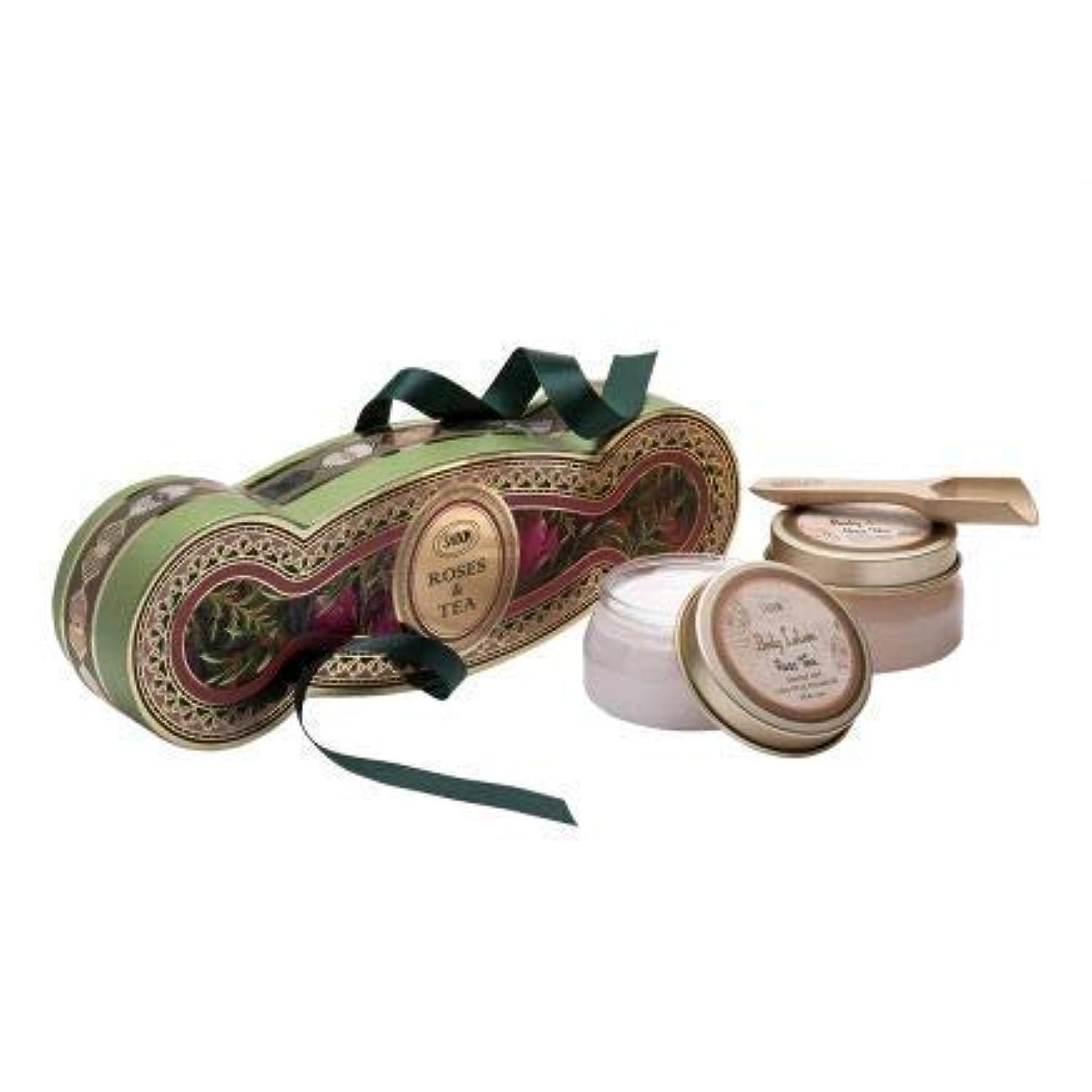 攻撃的新年リビジョンサボン コフレ ギフト ローズティー キット ボディスクラブ ボディローション ホワイトデー SABON Rose Tea kit コレクション