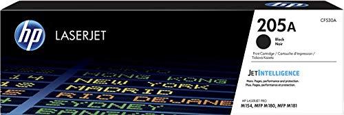 HP 205A CF530A Cartuccia Toner Originale, da 1.100 Pagine, Compatibile con Stampanti HP LaserJet Serie Pro M180, Nero