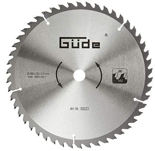 Güde–Hartmetallsägeblatt mit 50Zähnen, 250x20mm