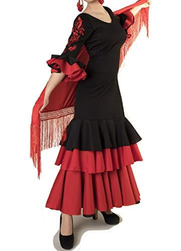 ANUKA Costume da Ballo Flamenco o sevillanas per Donne (L)