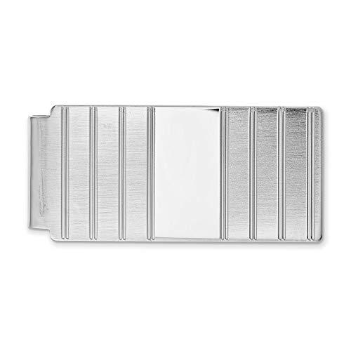 Diamond2Deal Kelly Waters - Pinza para Dinero (chapada en rodio, con bisagras)