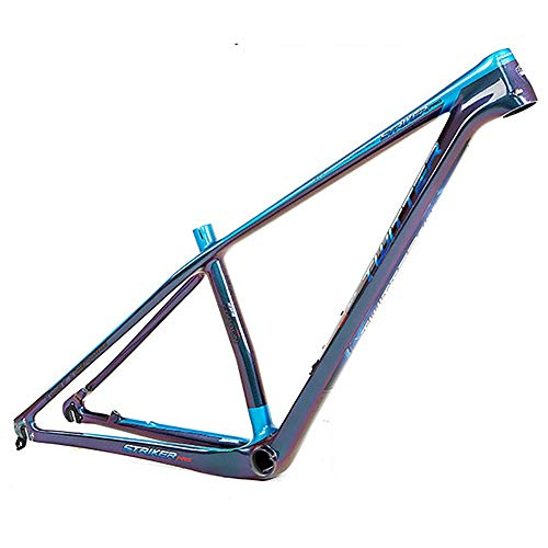 Las horquillas de suspensión Cuadro de montaña de fibra de carbono de 18 quilates Cuadro de carbono de bicicleta de montaña de campo a través que cambia de color Negro Tenedor de bicicletas Aire grasa