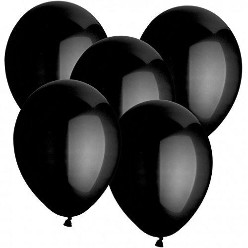 doriantrade.de 100 Luftballons Ø 30 cm Farbe frei wählbar Ballons Helium Luftballon (Schwarz)