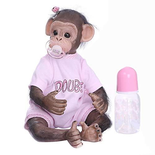 Monkey Baby Doll Handgemachte Innovative Simulation Spielzeug Dekor, Sehr Weiches Silikon Vinyl Reborn Monkey Baby Dolls