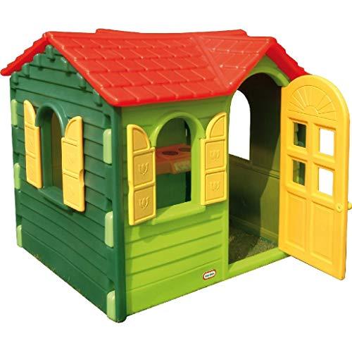 Little Tikes Country Cottage - Outdoor Spielset, Spielhaus - Inklusive Küche, Telefon und mehr - Fördert fantasievolles & aktives Spielen - ab 2 Jahren - Klassiker