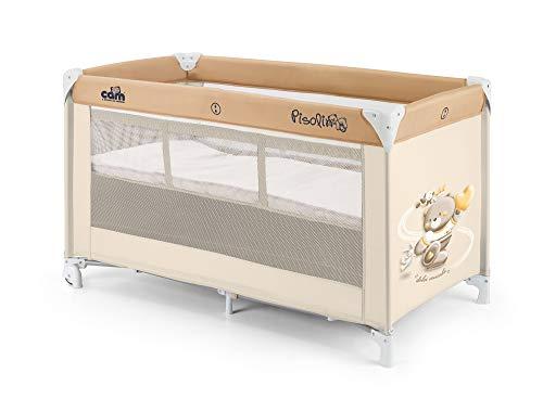 CAM Reisebett Pisolino inkl. Reisebettmatratze, Verdeck, Fliegengitter & Tragetasche mit seitlichem Einstieg klappbar Babybett (Bärchen Neu)