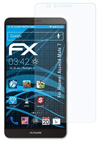 atFolix Schutzfolie kompatibel mit Huawei Ascend Mate 7 Folie, ultraklare FX Bildschirmschutzfolie (3X)