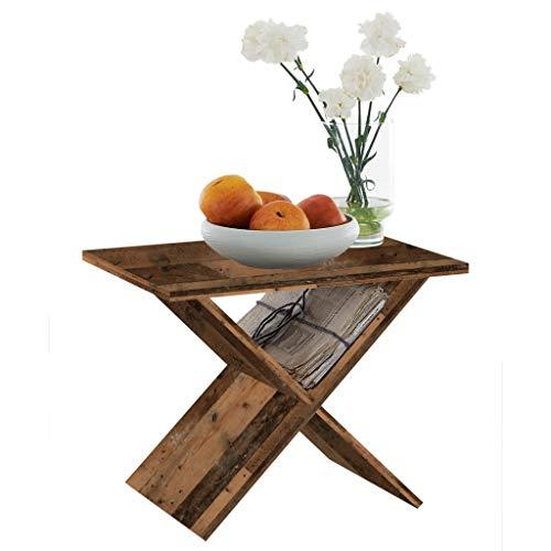 FMD furniture Beistelltisch, Spanplatte, Old Style dunkel, ca. 55 x 43 x 39 cm