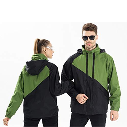 Ddl Herbst und Winter im Freien warmen Jacke Overalls individuellen Dickes wasserdichte Jacke Druck-Logo, wasserdicht und atmungsaktiv Bergbekleidung,Grün