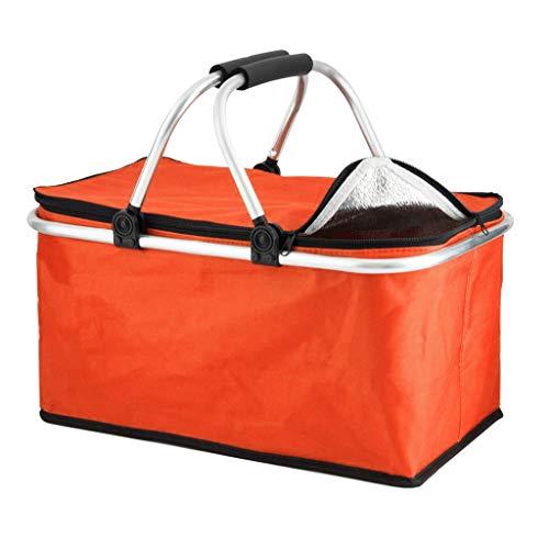 FLAMEER Izolowana torba chłodząca z izolacją termiczną najwyższej jakości miękka dwustronna chłodziarka izolowana torba na zakupy, torba na dostawę żywności, chłodziarka podróżna lub chłodziarka pikni